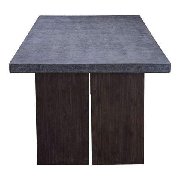 Modern Windsor Dining Table Cement & Natural: Living Room Furniture- Shop MIXXCI