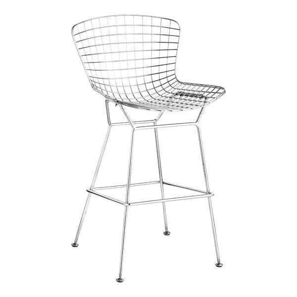 Modern Wire Bar Chair Chrome (Set of 2), Default Title: Living Room Furniture- Shop MIXXCI