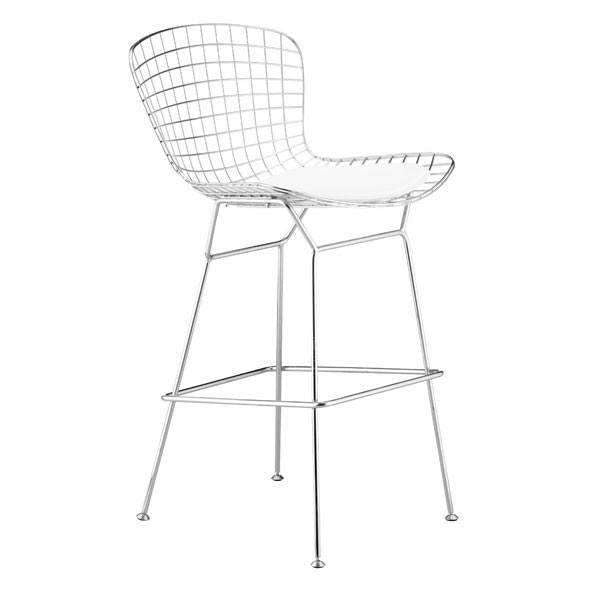 Modern Wire Bar Chair Chrome (Set of 2): Living Room Furniture- Shop MIXXCI