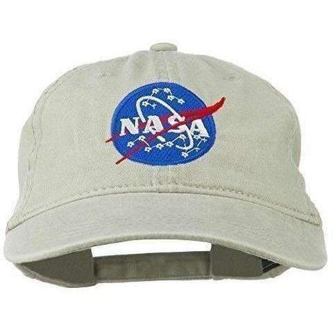 Nasa Insignia Embroidered Pigment Dyed Cap (Choice Of Colors): Unisex Hats- Shop MIXXCI
