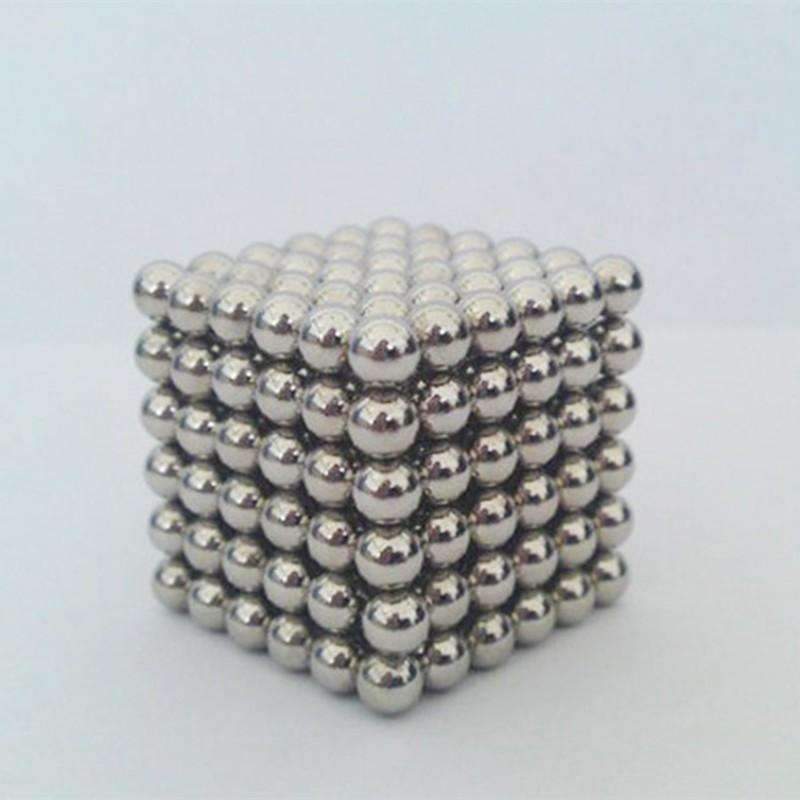 Neo Cube Magic Cube Puzzle Metaballs Magnetic Buckyballs, Silver: Ornaments- Shop MIXXCI