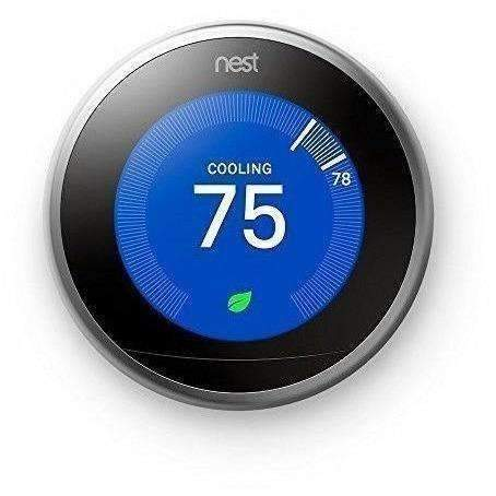Nest Learning Thermostat 3Rd Generation, Stainless Steel, Works With Amazon Alexa: Smart Home- Shop MIXXCI