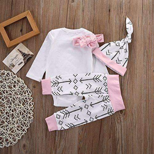 Newborn Girls Clothes Baby Romper Outfit Pants Set Long Sleeve Winter Clothing: Baby- Shop MIXXCI