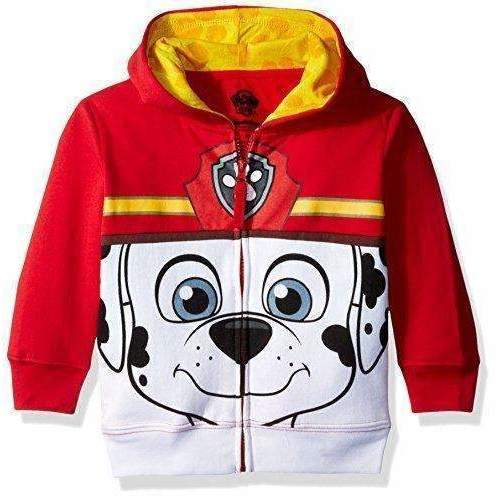 Nickelodeon Toddler Boys' Paw Patrol Character Big Face Zip-Up Hoodies: Boys Clothing- Shop MIXXCI