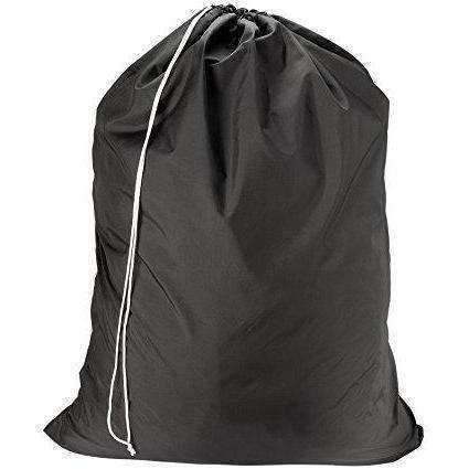 "Nylon Laundry Bag - Black, 30"" X 40"" - Sturdy Rip And Tear Resistant Nylon Material With Drawstring Closure. Ideal Machine Washable Nylon Laundry Bags For College, Dorm And Apartment Dwellers.: New- Shop MIXXCI"