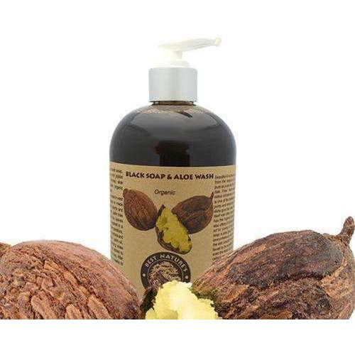 Organic Black Soap & Aloe Wash 8Oz/240Ml: Body Cleansers- Shop MIXXCI