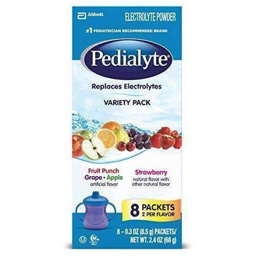 Pedialyte Electrolyte Powder Assorted Flavors Variety Pack, 0.3 Oz Powder Packets, 24 Count: Baby Formula- Shop MIXXCI
