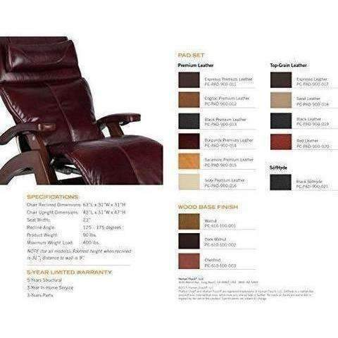 "Perfect Chair ""Pc-610 Omni-Motion Classic"" Premium Full Grain Leather Zero-Gravity Hand-Crafted Chestnut Recliner, Cognac: Living Room- Shop MIXXCI"