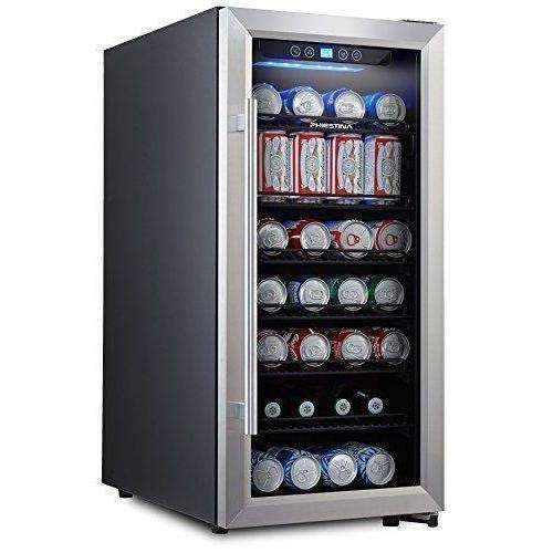 Phiestina Ph-Cbr100 106 Can Beverage Cooler Stainless Steel Door With Handle: Appliances- Shop MIXXCI