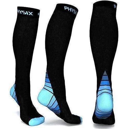Physix Gear Compression Socks For Men & Women (20 - 30 Mmhg) Best Graduated Athletic Fit For Running, Nurses, Shin Splints, Flight Travel & Maternity Pregnancy - Boost Stamina, Circulation & Recovery: Outdoor Recreation- Shop MIXXCI