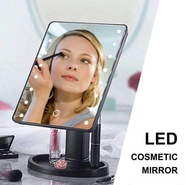Portable 360 Degree Rotation Touch Induction Tabletop Cosmetic Mirror: makeup tools- Shop MIXXCI