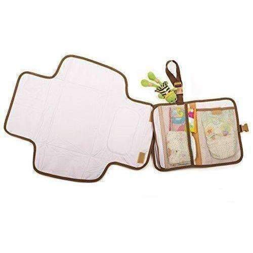 Portable Changing Mat Station With Cushioned Changing Pad And Wet Bag Organizer For Travel: New- Shop MIXXCI