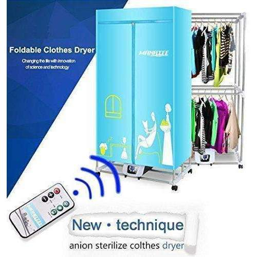 Portable Clothes Dryer 1200W Electric Laundry Drying Rack 33 Lb Capacity Best Energy Saving (Anion) Folding Dryer Quick Dry & Efficient Mode Digital Automatic Timer With Remote Control: Appliances- Shop MIXXCI
