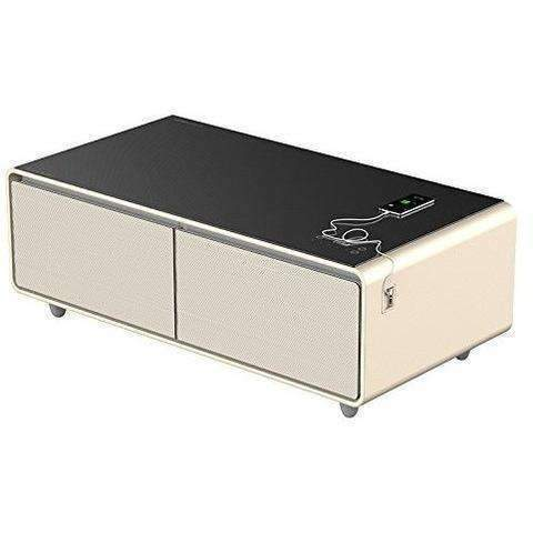 Primst Multifunction Refrigerator Coffee Table, 4.0 Bluetooth Speakers, Gold: Living Room- Shop MIXXCI