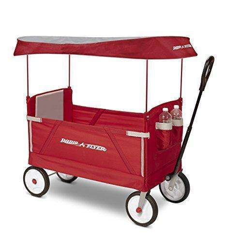 Radio Flyer 3-In-1 Ez Folding Wagon With Canopy For Kids And Cargo: - Shop MIXXCI