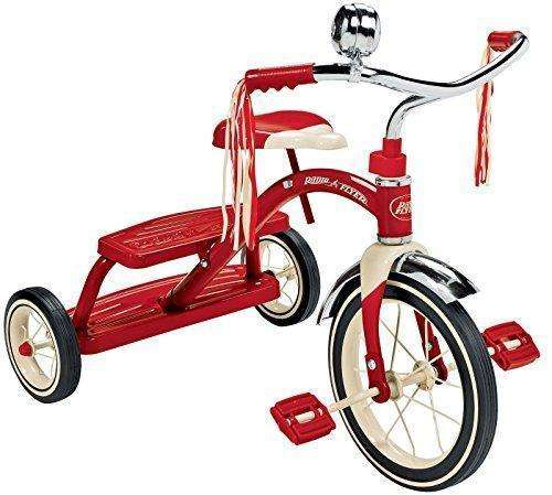 Radio Flyer Classic Red Dual Deck Tricycle: Kids Tricycles- Shop MIXXCI