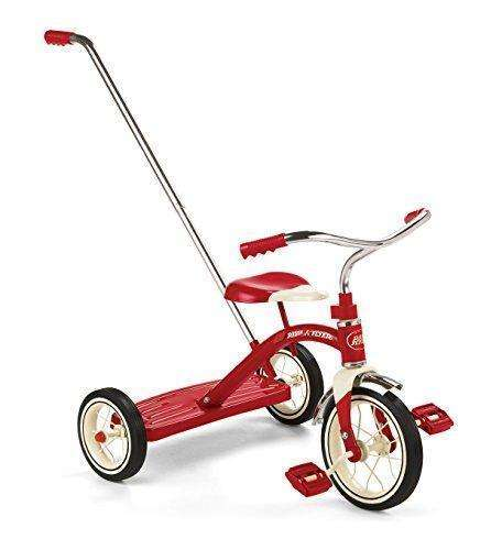 Radio Flyer Classic Tricycle with Push Handle, Red: Kids Tricycles- Shop MIXXCI