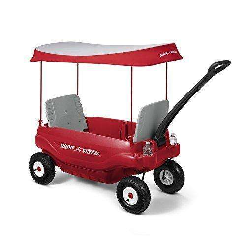 Radio Flyer Deluxe All-Terrain Family Wagon Ride On, Red: Kids Pull-Along Wagons- Shop MIXXCI
