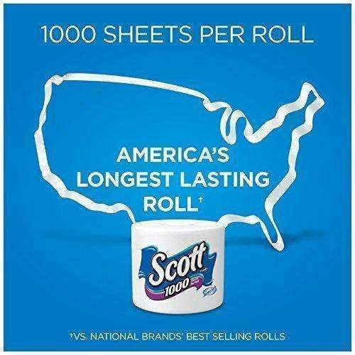 Scott 1000 Sheets Per Roll Toilet Paper, 27 Rolls, Sewer-Safe, Septic-Safe, 1-Ply Bath Tissue, America'S Longest Lasting Roll: Health & Household- Shop MIXXCI