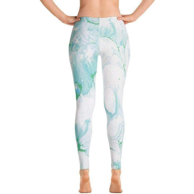 Seafoam Printed Leggings: Women's Pants- Shop MIXXCI