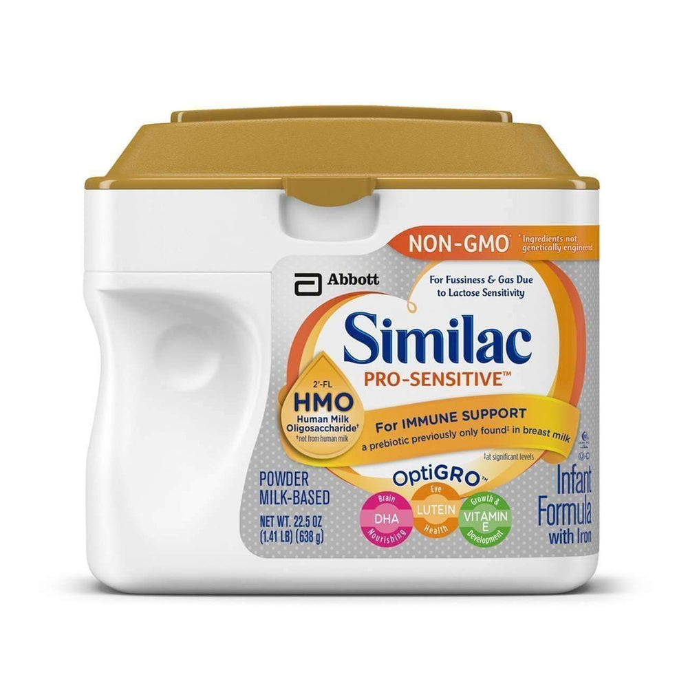Similac Pro-Sensitive Non-Gmo Infant Formula With Iron, With 2'-Fl Hmo, For Immune Support, Baby Formula, Powder, 22.5 Ounces (Single Tub): Baby Formula- Shop MIXXCI