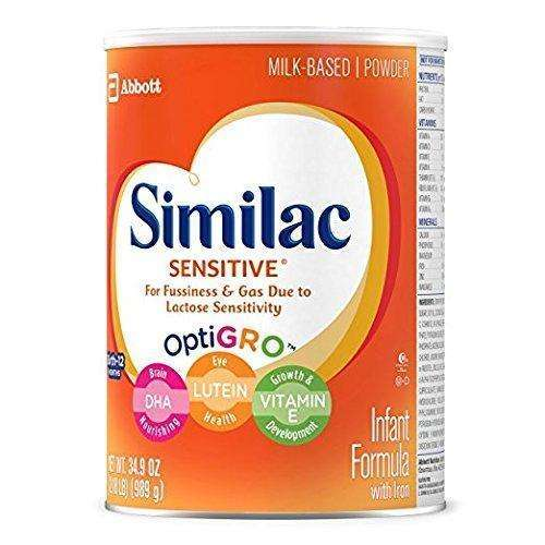 Similac Sensitive Infant Formula with Iron, For Fussiness and Gas, One Month's Supply, Baby Formula, Powder, 2.18 lb (Pack of 3): Baby Formula- Shop MIXXCI