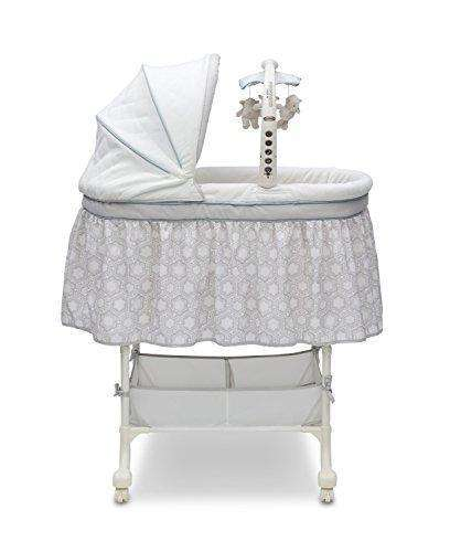 Simmons Kids Deluxe Gliding Bassinet, Seaside: Bassinet- Shop MIXXCI