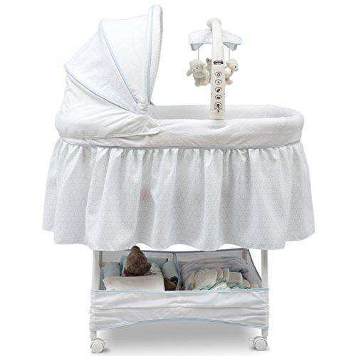 Simmons Kids Elite Gliding Bassinet, Whisper: Bassinet- Shop MIXXCI