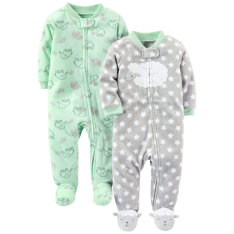 Simple Joys By Carter'S Baby 2-Pack Fleece Footed Sleep And Play: Baby- Shop MIXXCI