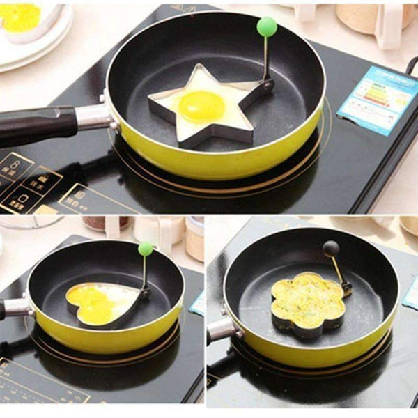Stainless Steel Fried Egg Molds: Kitchen & Dining- Shop MIXXCI