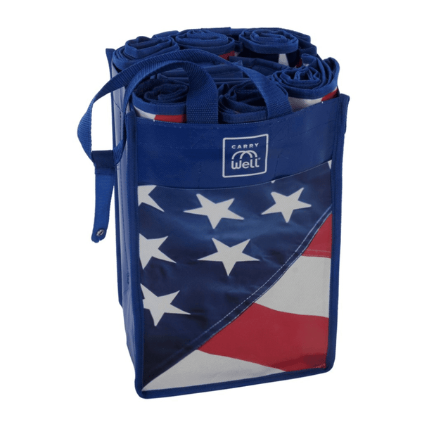 Stars & Stripes 10 Piece Grocery Bag Organizer, Default Title: Reusable Grocery Bags- Shop MIXXCI