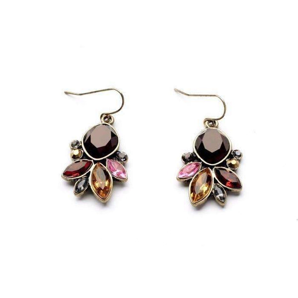 Statement Jewelrygraceful Resin Stone Antique Gold Color Drop Earrings Accessories For Women: Womens Jewelry- Shop MIXXCI
