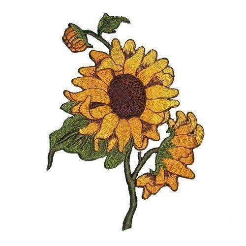 Sun Flowers Embroidered Iron On Applique Patches: Arts, Crafts & Sewing- Shop MIXXCI