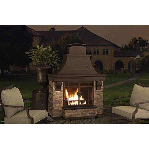 Sunjoy Jasper Wood Burning Fireplace Large: Fire Pits & Outdoor Fireplaces- Shop MIXXCI