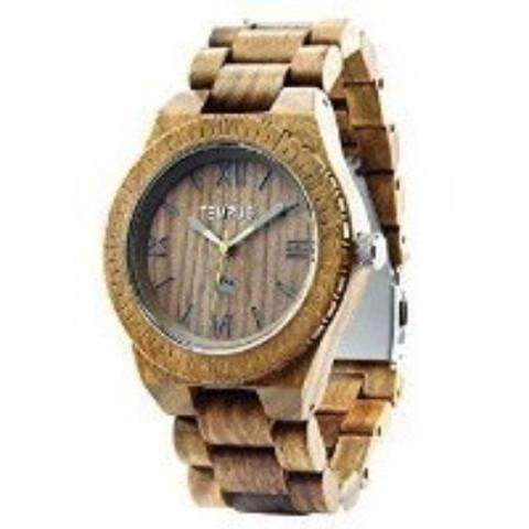Tempus Silvestre - Green Sandalwood Men'S Wood Watch Wooden Casual Wristwatch: Men's Watches- Shop MIXXCI