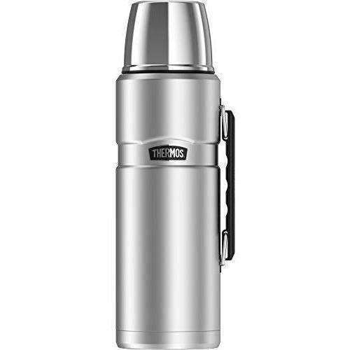 Thermos Stainless King 68 Ounce Vacuum Insulated Beverage Bottle With Handle, Stainless Steel: New- Shop MIXXCI