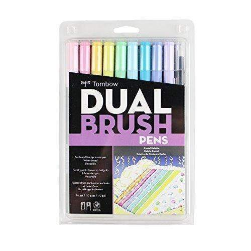 Tombow Dual Brush Pen Art Markers 10-Pack, Pastel: Arts, Crafts & Sewing- Shop MIXXCI