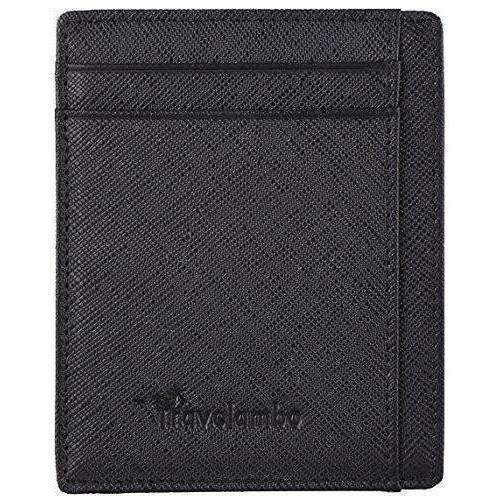 Travelambo Rfid Front Pocket Wallet Minimalist Wallet Slim Wallet Genuine Leather: New- Shop MIXXCI