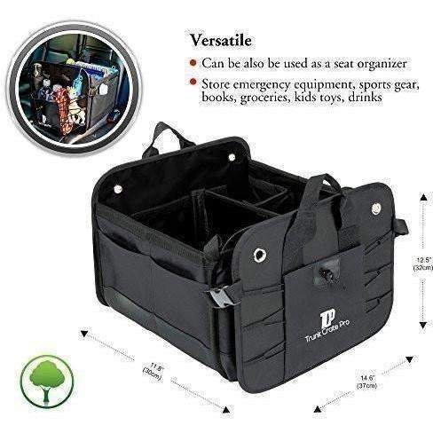 Trunkcratepro Collapsible Portable Multi Compartments Trunk Organizer, Black: New- Shop MIXXCI