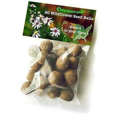 Us Wildflower Seed Balls- Native To Your State, 20 Bulk Seed Bombs (California): New- Shop MIXXCI