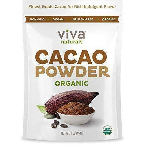 Viva Naturals #1 Best Selling Certified Organic Cacao Powder From Superior Criollo Beans, 1 Lb Bag: Grocery & Gourmet Food- Shop MIXXCI
