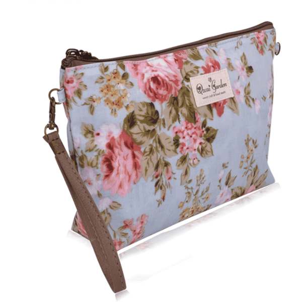 Waterproof Floral Cosmetic Bag: Tools & Brushes- Shop MIXXCI