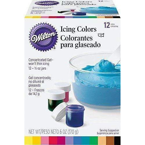 Wilton 601-5580 1/2-Ounce Certified-Kosher Icing Colors, Set Of 12: Grocery & Gourmet Food- Shop MIXXCI