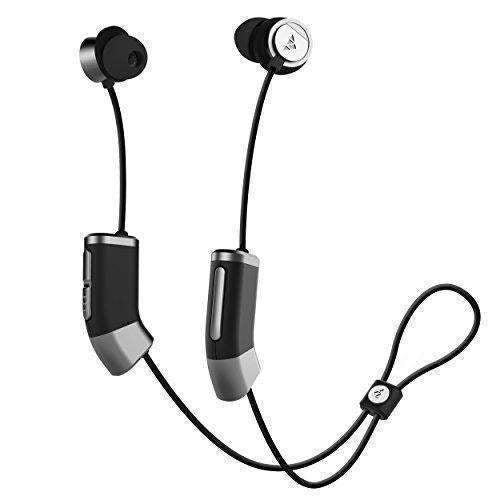 Zipbuds 26 Bluetooth Wireless Custom Fit In-Ear Headphones: Hd Stereo Sound Waterproof Sweatproof 15-Hour Supercharged Battery (Black & Space Gray): Audio Headphones- Shop MIXXCI