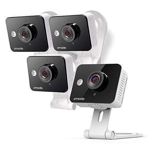 Zmodo Wireless Two-Way Audio Hd Home Security Camera (4 Pack) With Night Vision: Camera & Photo- Shop MIXXCI