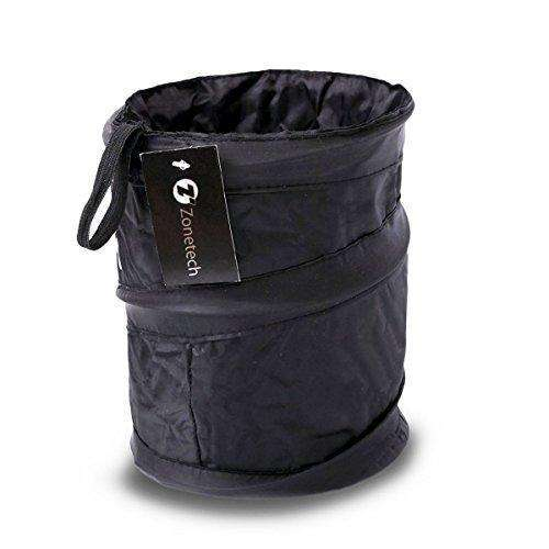 Zone Tech Universal Traveling Portable Car Trash Can - Black Collapsible Pop-Up Leak Proof Trash Can: - Shop MIXXCI