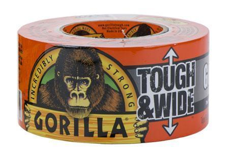 "GORILLA TAPE EXTRA BRED ""TOUGH & WIDE"" (27M x 73mm) SVART"