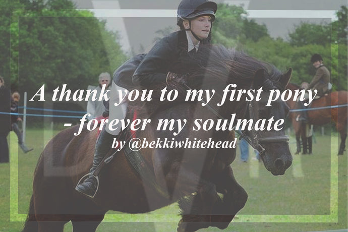 A thank you to my first pony - forever my soulmate by @bekkiwhitehead