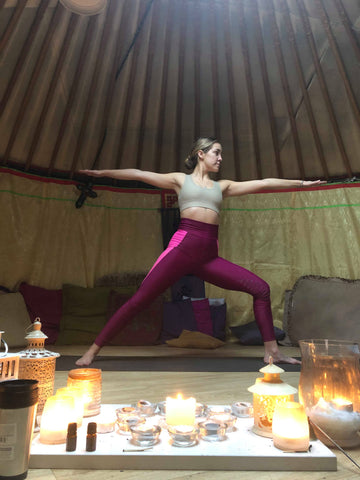 Yoga for horse riders warrier 2 pose