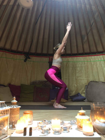 Yoga for horse riders tree pose